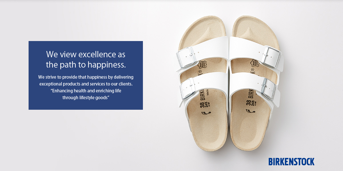 Bringing fabulous products from the world to the world. Sanyei Corporation provides products for daily life that enrich people's experience of day-to-day life.(BIRKENSTOCK)